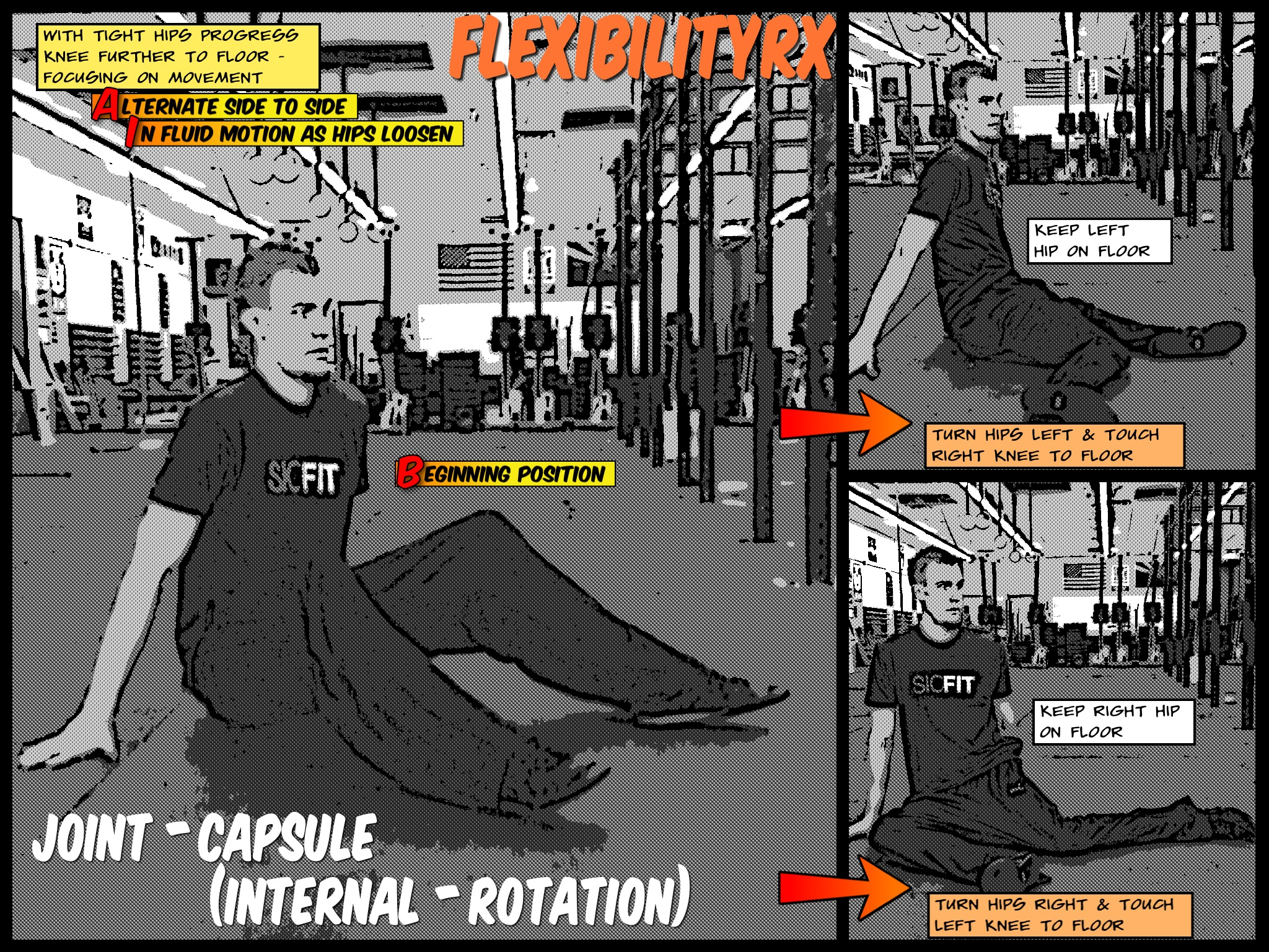 Squatrx - Internal-rotation Stretch For Deeper Squat Depth